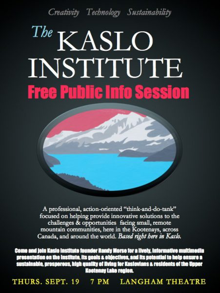 The Kaslo Institute-Demystified!