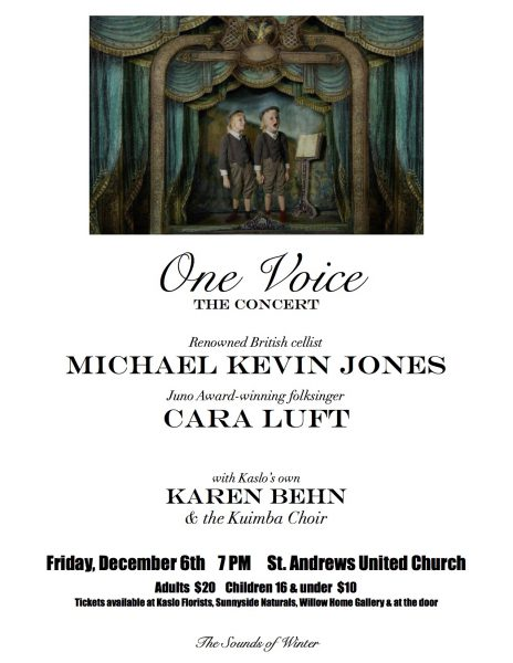 One Voice Concert with Cara Luft, Michael Kevin Jones and Karen Behn