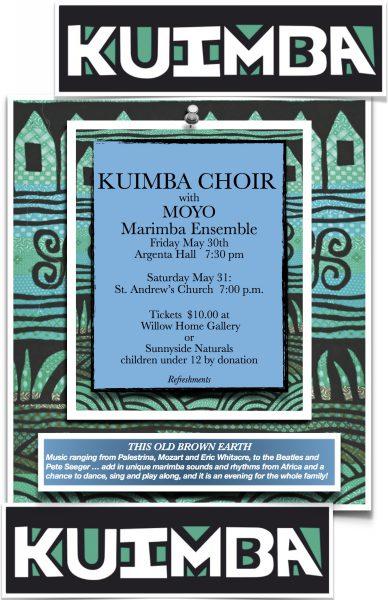 Moyo Marimba plays at Kuimba Choir concerts!