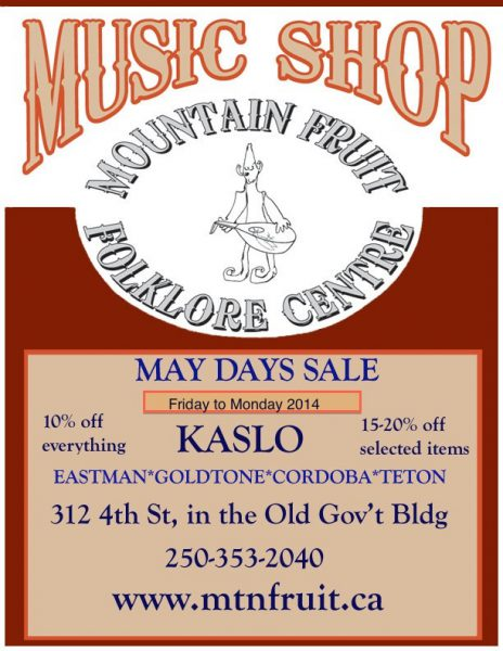 Annual May Days Sale